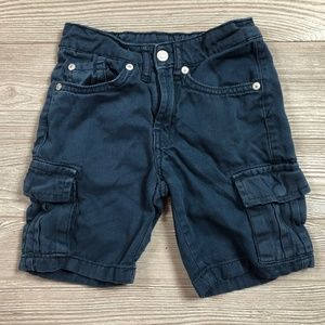 7 For All Mankind Navy Cargo Shorts Boy's 4 W16